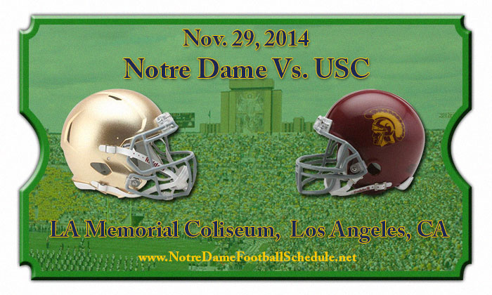 2014 Notre Dame vs. USC Football Tickets