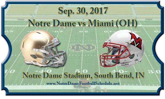 Notre Dame Fighting Irish Vs. Miami (OH) Redhawks Tickets