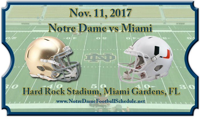 Miami Hurricanes vs. Notre Dame Fighting Irish Tickets