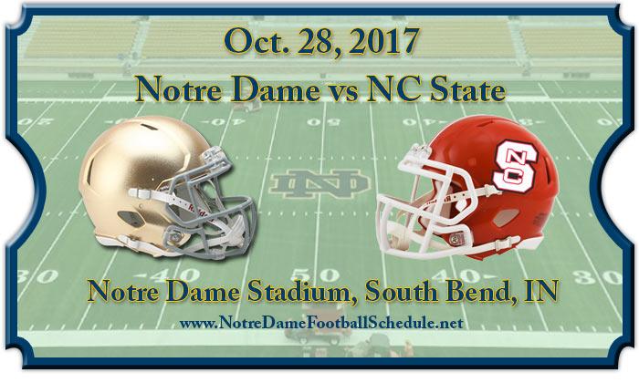 Notre Dame Fighting Irish vs. North Carolina State Wolfpack Tickets