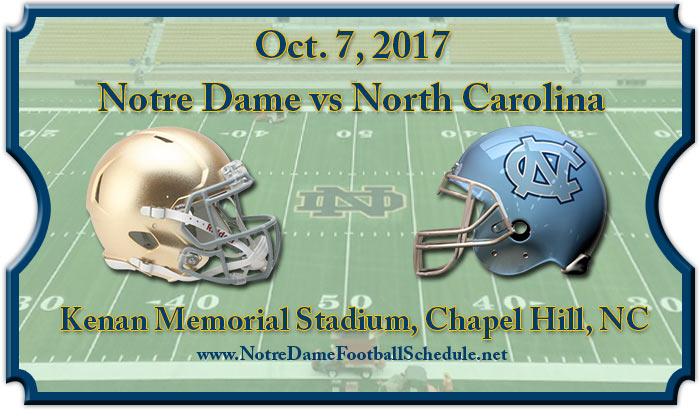 North Carolina Tar Heels vs Notre Dame Fighting Irish Tickets