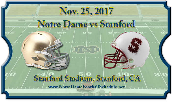 Notre Dame Fighting Irish vs Stanford Cardinal Football Tickets