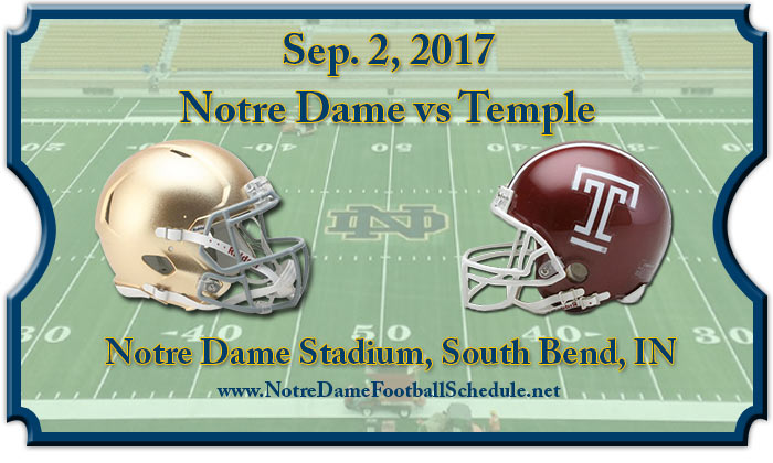 Notre Dame Fighting Irish Vs. Temple Owls Tickets