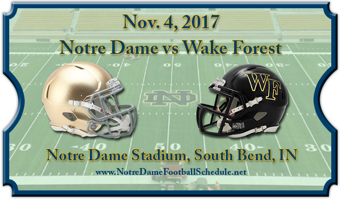 Notre Dame Fighting Irish vs. Wake Forest Demon Deacons Tickets