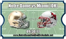 Notre Dame Fighting Irish Vs. Miami (OH) Redhawks