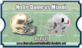 Miami Hurricanes vs. Notre Dame Fighting Irish