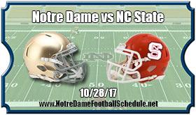 Notre Dame Fighting Irish vs. North Carolina State Wolfpack