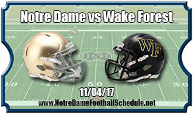 Notre Dame Fighting Irish vs. Wake Forest Demon Deacons