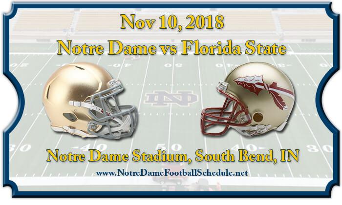 Notre Dame Fighting Irish vs Florida State Seminoles Football Tickets
