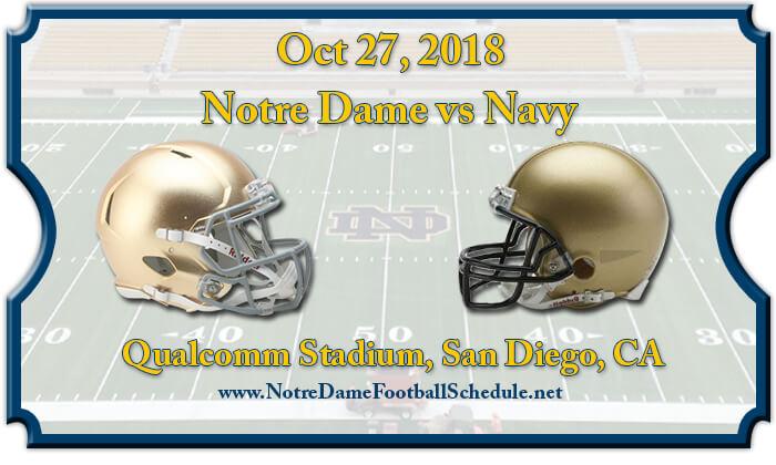 Notre Dame Fighting Irish vs Navy Midshipmen Football Tickets