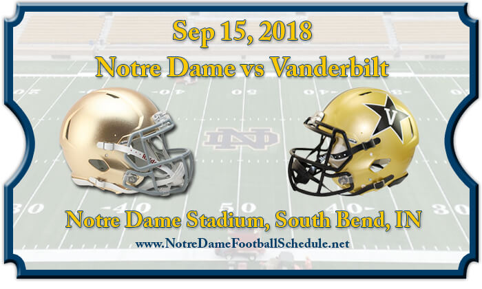 Notre Dame Fighting Irish vs Vanderbilt Commodores Football Tickets