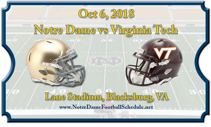 Notre Dame Fighting Irish vs Virginia Tech Hokies Football Tickets