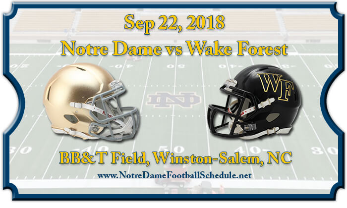 Notre Dame Fighting Irish vs Wake Forest Demon Deacons Football Tickets